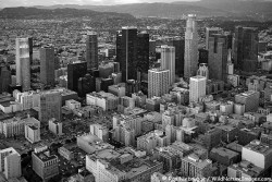 Aerial view of Downtown Los Angeles, California.