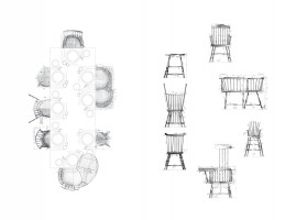 Mixed Media Plan, Wrong Chairs (2013)