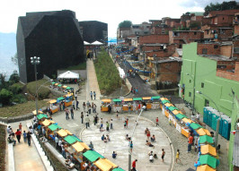 Beginning in the early 2000s, public spaces, such as libraries, medical centers and parks, and transportation systems were constructed within the neighborhoods of Medellin, Colombia, that were plagued by violence, insecurity and poverty.