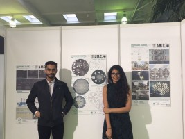 <em>L to R: Dynamic Balance team members Vardhan Mehta and Syracuse Architecture student Shaguni Gupta '18 (2nd prize)</em>