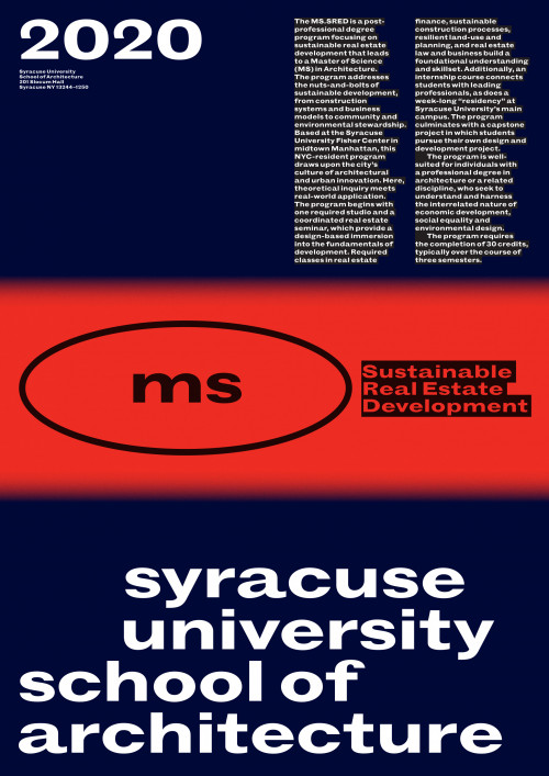 Syracuse University School of Architecture, Sustainable Real Estate Development