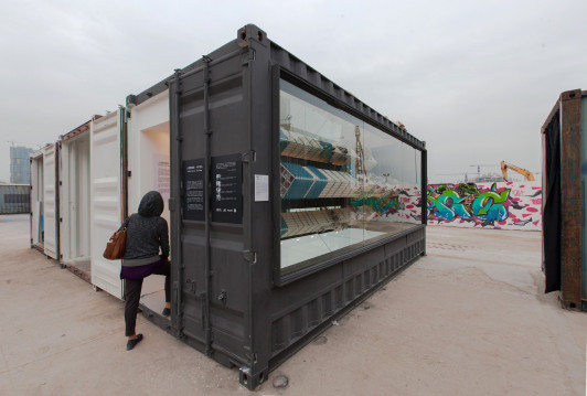 "<p>""The development of shipping containers has made ultra-large international art exhibitions possible. More and more people start to realize that the nature of artwork should be highly mobile, rather than a fixture inside a museum. We are pleased to share our curating experience at the 2015 Hong Kong/Shenzhen Biennale, and how we moved our physical models from 'the white cube' to a 'pop-up store'...We wanted to investigate both the material and intangible elements that composes the city we live in, and set out to reveal and represent those operational modes that people take for granted but never really understood. During the design process, we dealt with both form and text so as to create a smart system that integrates multiple variables at the same time.""</p> <p> </p>"