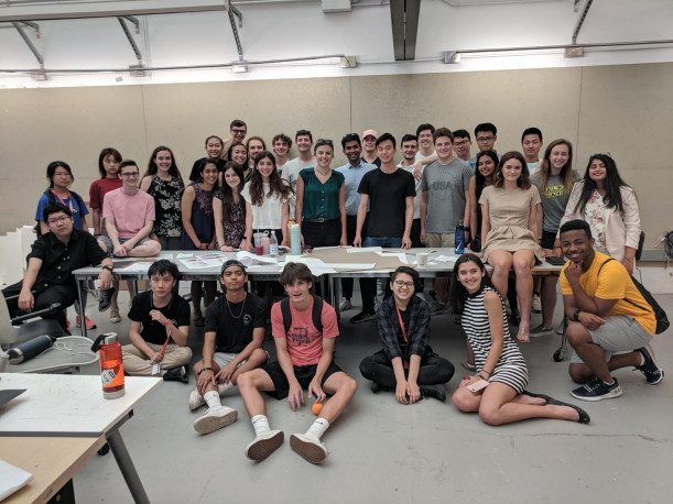 Summer College Architecture students and instructors